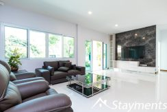 living room area with LCD TV