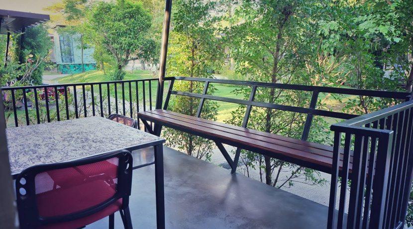 patio at resort