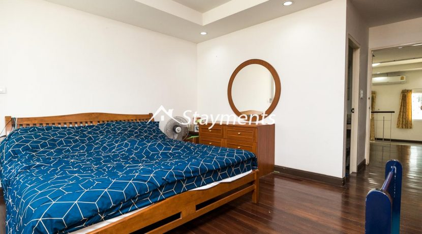 Furnished bedroom at the second floor - house for sale in Nimman