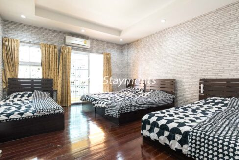 Spacious family size bedroom in house for sale in Nimman