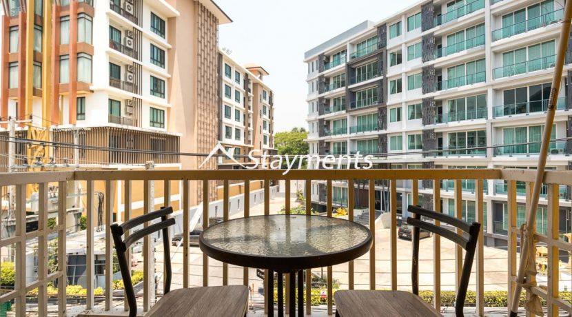 second floor balcony - house for sale in Nimman