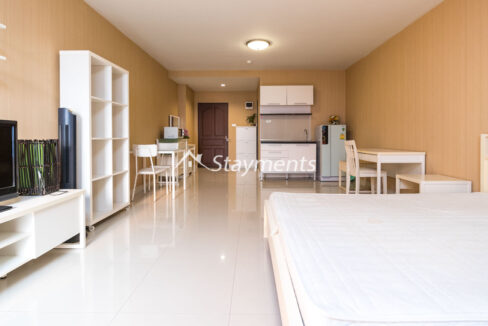 Furnished Studio for rent at Trio Condo