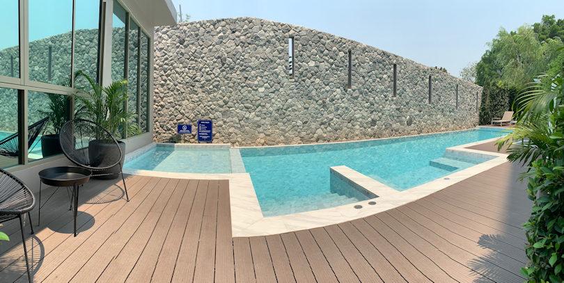 Hilltania residence chiang mai pool area