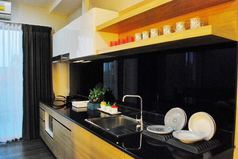 fully functional kitchen at wellness residence