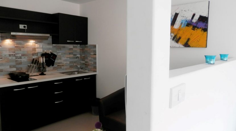 studio condo for rent with modern kitchenette