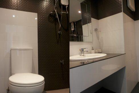 studio condo for rent with modern bathroom