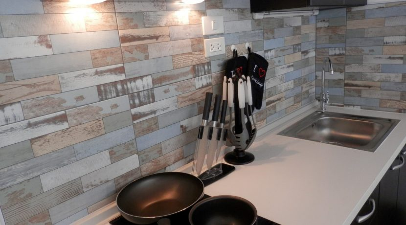 studio condo for rent with modern kitchen