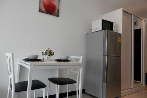 studio condo for rent with dining section