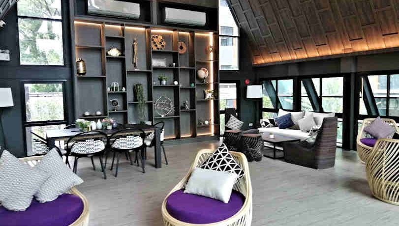 the escent condo with modern lobby