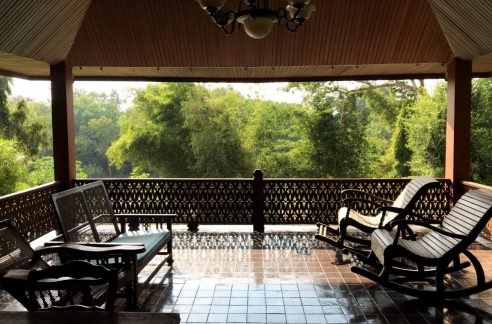 Wooden Thai Lanna Style House For Rent With Pool