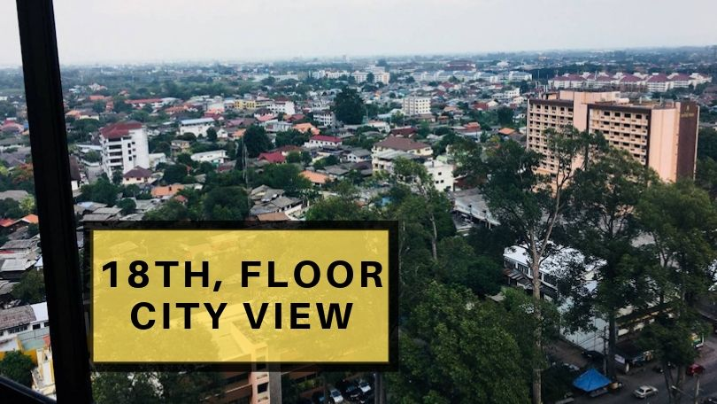 18th floor city view condo for rent