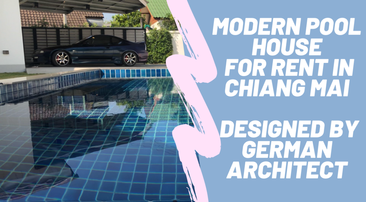 Modern pool house for rent designed by german architect